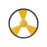 Warning: nuclear danger sign Royalty Free Stock Image