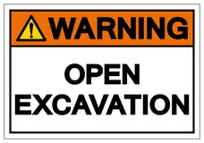 Warning Open Excavation Symbol Sign, Vector Illustration, Isolate On White Background Label. EPS10 vector illustration