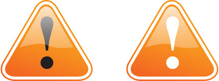 WARNING_ORANGE Royalty Free Stock Image