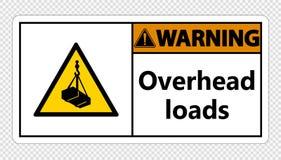 symbol Warning overhead loads Sign on transparent background royalty free illustration