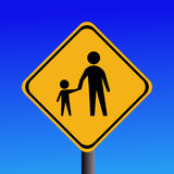 Warning pedestrians sign Stock Photo