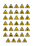 Warning pictogram Stock Photography