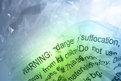 Warning on plastic Royalty Free Stock Images