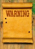 Warning poster background royalty free stock photos