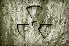 Warning Radiation Royalty Free Stock Photo