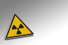 Warning Radioactive royalty free illustration
