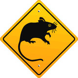 Warning rat Royalty Free Stock Images