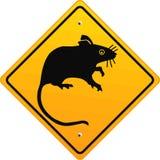 Warning rat Royalty Free Stock Images