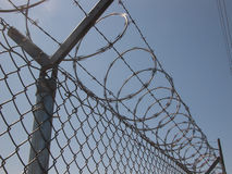 Warning: Razor Wire Royalty Free Stock Photos