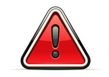 Warning red sign. Isolated on white background Stock Illustration