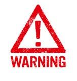 Warning Royalty Free Stock Photography