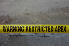 Warning Restricted Area royalty free stock image