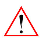 Warning road sign Royalty Free Stock Photos