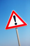 Warning road sign Royalty Free Stock Images