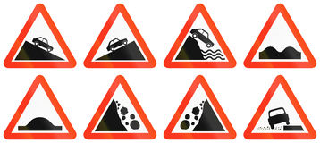 Warning Road Signs In Bangladesh Stock Photo