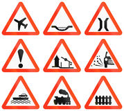 Warning Road Signs In Bangladesh. Collection of warning road signs in Bangladesh Stock Image