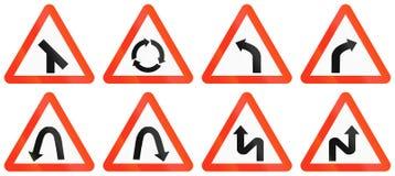 Warning Road Signs In Bangladesh Stock Photo
