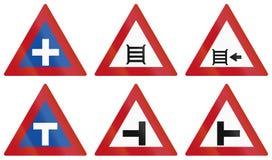 Warning Road Signs In Botswana Royalty Free Stock Image