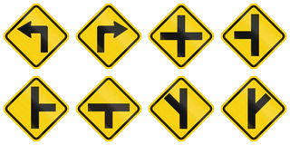 Warning Road Signs In Colombia Stock Photo