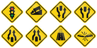 Warning Road Signs In Colombia Stock Photos