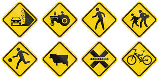 Warning Road Signs In Colombia Stock Image