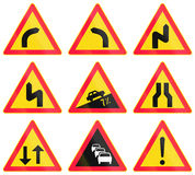 Warning Road Signs In Finland Royalty Free Stock Images