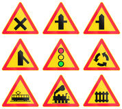 Warning Road Signs In Finland Stock Image