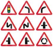 Warning Road Signs In Hong Kong Stock Photo