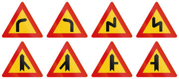 Warning Road Signs In Iceland Royalty Free Stock Photos