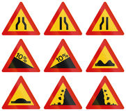 Warning Road Signs In Iceland Royalty Free Stock Image