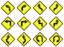 Warning Road Signs In Indonesia Stock Photos