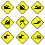 Warning Road Signs In Indonesia Royalty Free Stock Photo