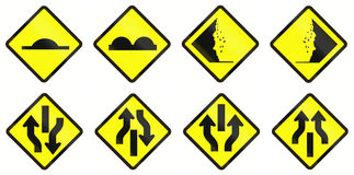 Warning Road Signs In Indonesia Stock Images