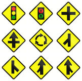 Warning Road Signs In Indonesia Royalty Free Stock Photography