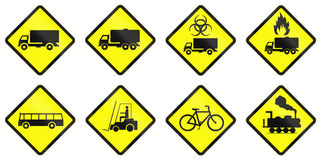 Warning Road Signs In Indonesia Royalty Free Stock Image