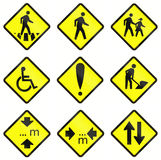 Warning Road Signs In Indonesia Stock Photography