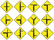 Warning Road Signs In Ireland Royalty Free Stock Photography
