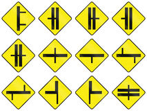 Warning Road Signs In Ireland Stock Images