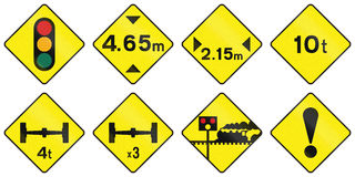 Warning Road Signs In Ireland Stock Image