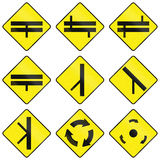 Warning Road Signs In Ireland Stock Photography