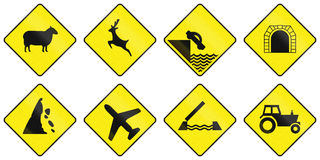 Warning Road Signs In Ireland Stock Photo