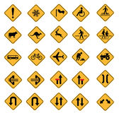 Warning road signs Stock Photos