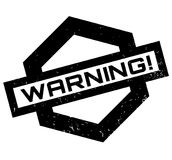 Warning rubber stamp. Grunge design with dust scratches. Effects can be easily removed for a clean, crisp look. Color is easily changed Stock Images