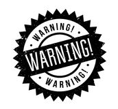 Warning rubber stamp. Grunge design with dust scratches. Effects can be easily removed for a clean, crisp look. Color is easily changed Royalty Free Stock Image