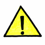 Warning safety sign isolated over white Stock Image