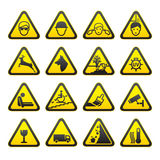 Warning Safety Signs Set Stock Photography