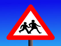 Warning school sign Royalty Free Stock Photo