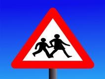 Warning school sign Royalty Free Stock Photo
