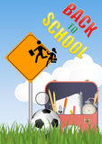 Warning school sign Stock Images