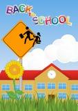 Warning school sign Royalty Free Stock Image